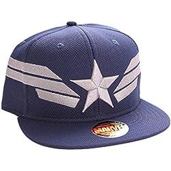 Capitán América Silver Star y rayas snapback cap marino