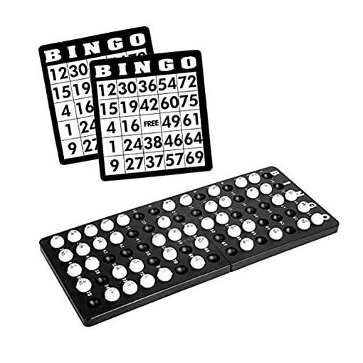 Bingo-Spiel-Set-mit-Bingotrommel-Bingokarten-Bingo-Balls-Metall-Bingotrommel-Bingo-Mhle-Lotto-Trommel-Tombola-Auslosung