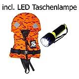 Secumar Kinder Rettungsweste Kinderschwimmweste Bravo Print 15 - 20 kg mit LED Taschenlampe
