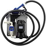 BLUREA Pumpe 230V IBC-Container-Set für AdBlue® (Automatische Zapfpistole, Digitaler Durchflussmesser für AdBlue®, SEC/CDS IBC-Adapter, 1m Saugschlauch und 4m EPDM Druckschlauch), Bis 24 Liter/min,