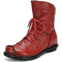 854da3fead SAGUARO Damen Stiefeletten Wasserdicht Weiches Stiefel Gefüttert  Damenstiefel Vintage Schuhe