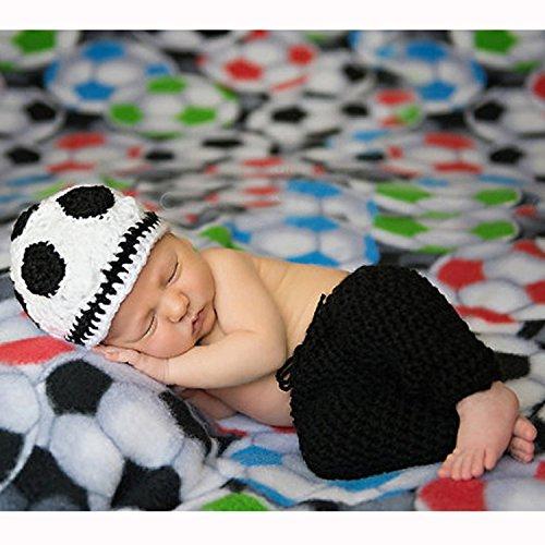 Mädchen Fußball Kostüm - UGUAX Baby Fotografie Requisiten Neugeborene Fußball Kostüm Foto Mädchen Jungen häkeln Kostüm Foto
