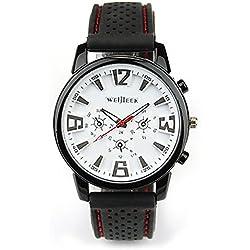 OrrOrr Fashion Men's White Stainless Steel Luxury Sport Analog Quartz Wrist Watch