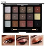 15 Couleurs Fard à paupières Shimmer Mate Palette Cosmétiques Brush Set de Maquillage,cosmétique Scintillement Matte Ombre palettes Eye Maquillage Ensemble...