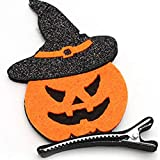 Halloween enfants épingles à cheveux citrouilles chauve-souris bébé drôle épingles à cheveux boule d'Halloween habiller pinces à cheveux stéréo - coloré