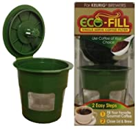 Eco-Fill Reusable Refillable k-cup Coffee Filter for Keurig Brewers