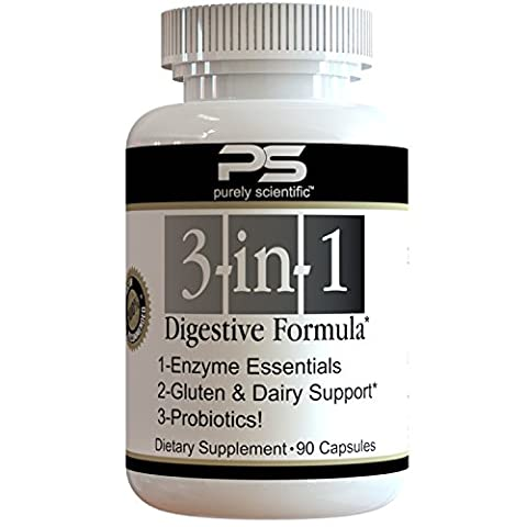Purely Scientific Probiotics Digestive Enzymes All-In-One Premium Digestive Supplement -