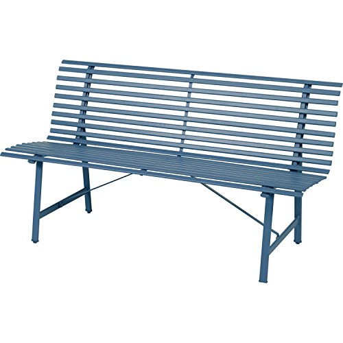 Gartenbank Tampa–3-Sitzer–Blau Gewitter