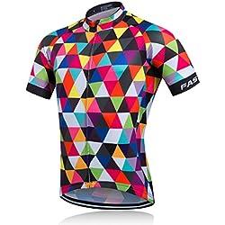 Plan A Verano Hombre Cycling Jersey Maillot ciclismo mangas cortas Camiseta de ciclistas Ropa ciclismo