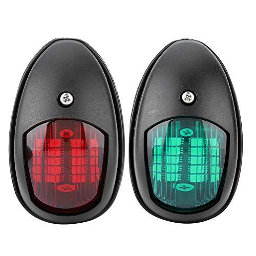 Nikou Navigationslichter für Boote - LED-Navigationslicht, Seitenlicht für 12-V-Signallampen für Marineboote, 1 Paar rotes und grünes Licht