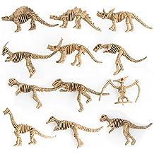 Amazemarket Jurásico Dinosaurios Fósil Esqueleto Modelo Juguete Vinilo Colección Figuras Huesos Inteligencia Padres e hijos Interacción
