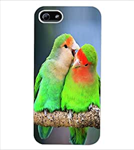 ColourCraft Love Birds Design Back Case Cover for APPLE IPHONE 5S