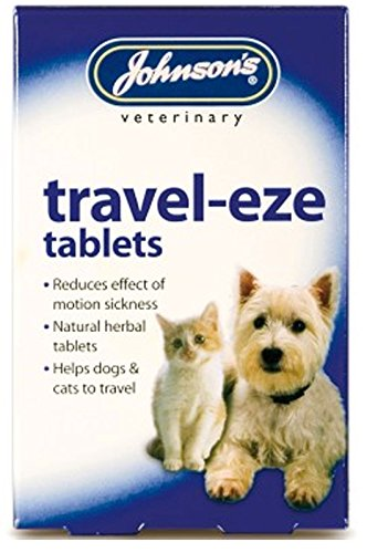 Johnson's Travel-Eze Tablets For Dogs & Cats Johnsons Natural Herbal Tablet