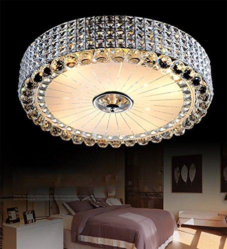 Modernen Kristall Deckenleuchte neue einfache LED Pendelleuchte rund hängende Licht die frische Wohnzimmeratmosphäre Schlafzimmer eingebettet verzweigte Deckenleuchte Creative Schlafzimmer Restaurant Beleuchtung Versprechen Dimmen 40 * 18cm