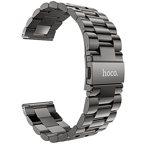 XIHAMA Bracelet en métal Compatible avec Samsung Gear S3 Frontier / S3 Classic, 22mm Montre Intelligente Remplacement en Acier Inoxydable Band
