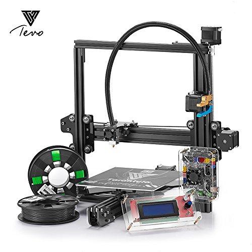 TEVO Tarantula I3 Extrusión de aluminio 3D Kit de impresora + Selección multifuncional + impresión 3D 2 Rolls Filament y tarjeta de 8GB SD LCD Como regalo (Extrusora Dual)