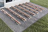 300 Stück Profi Terrassenpads 100 x 100 x 8mm