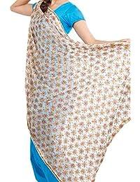 Beautiful Elegant Designer Phulkari Dupatta In Chiffon Fabric In Off-white Colour - Phulkari Dupatta