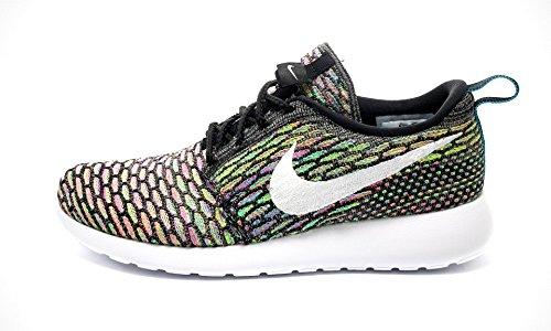 Nike Roshe Flyknit Damen Laufschuhe black white blue lagoon pink power 001