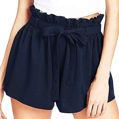 Btruely-Shorts Damen Sommer Kurze Hosen Damen Lässige Design Hohe Taille Lose Modische Shorts Frau mit Gürtel -