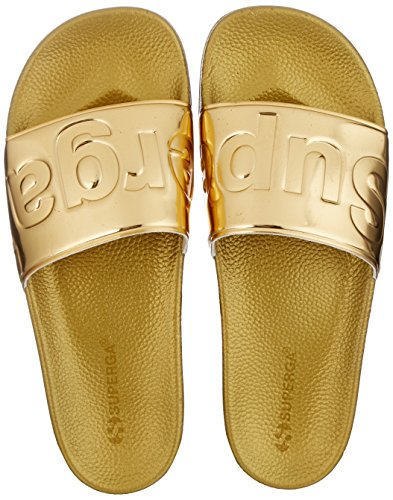 Superga Slides Metallic, Mocassins Mixte Adulte, Silber