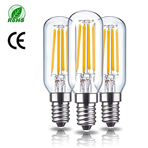 Rayhoo E14Base LED Ampoule à LED, 4W 220V, Edison Ampoules à filament, T25tubulaire Forme Bent tip, 400LM, 40W Ampoule à incandescence de remplacement, à intensité variable, 2700K Blanc chaud, Lot de 3