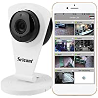 Sricam Cámara IP Wifi, Cámara de Vigilancia Interior 720P HD, Visión Nocturna, Audio