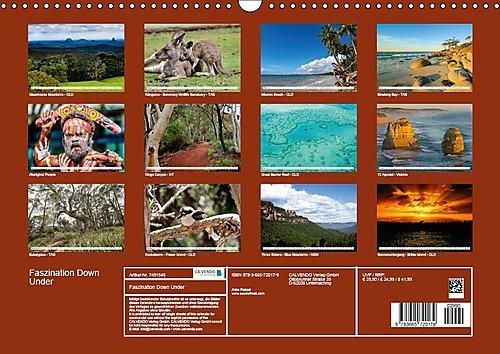 Faszination Down Under (Wandkalender 2018 DIN A3 quer): Erleben sie die natürliche Faszination des roten Kontinents Australien (Monatskalender, 14 ... Orte) [Kalender] [Apr 01, 2017] Fietzek, Anke - Bild 2