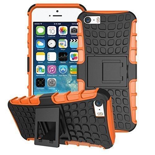 Connect Zone iPhone 5/5G/5S/SE Divers Design Coque Housse + Protection D'écran And Chiffon De Polissage - Rose S Ligne Gel, . Orange Choc Coque