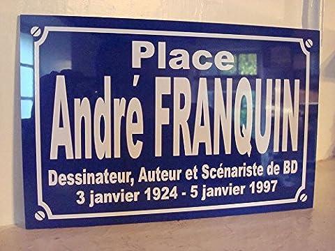 BD Andre FRANQUIN plaque de rue création collector edition limitée