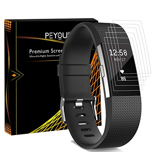 Protector Pantalla Fitbit Charge 2 [6 piezas], PEMOTech