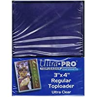 2 Ultra Pro Regular Top Loader Packs - 25 Toploaders Per Pack (50 Total) - For Standard Size Baseball, Football, Basketball, Gaming by Ultra Pro