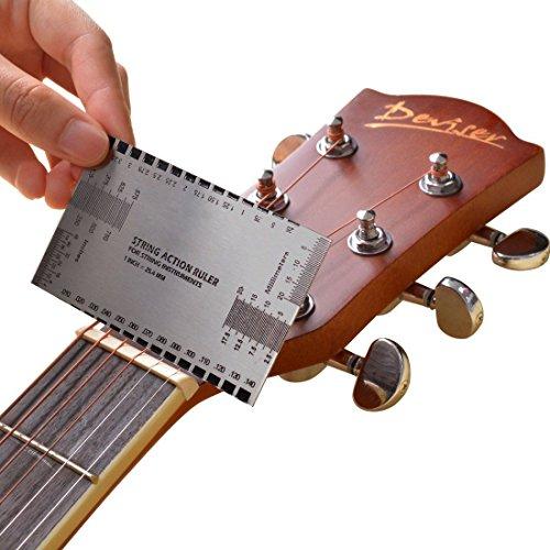 Fulla2116 International Measurement Standard String Action Lineal Gauge Gitarre Luthier Werkzeug