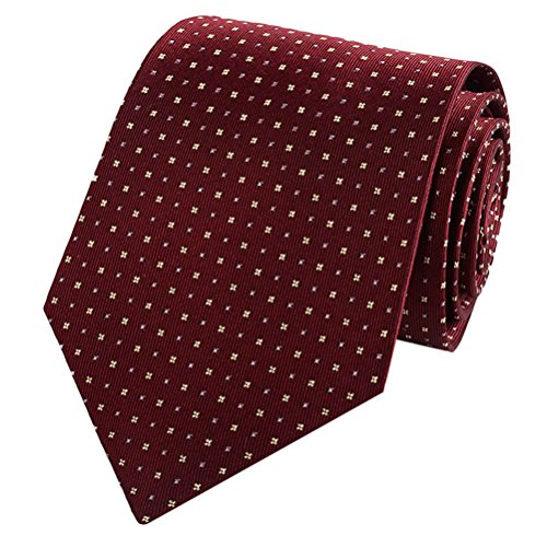 Zhhlinyuan Corbata Hombre roja blanca Multicolores Moda Clasica Elegant Neck Tie 9cm Business Necktie for Men for Husband for Wedding Party for Gift Present Various Colors & Styles