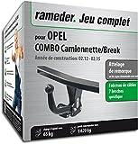 Rameder Attelage Col de Cygne Démontable avec Outil pour Opel Combo Camionnette/Break + Faisceau 7 Broches (144492-10000-1-FR)