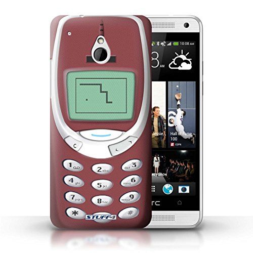 Kobalt® Imprimé Etui / Coque pour HTC One/1 Mini / Nokia 8210 jaune conception / Série Portables rétro Nokia 3310 rouge