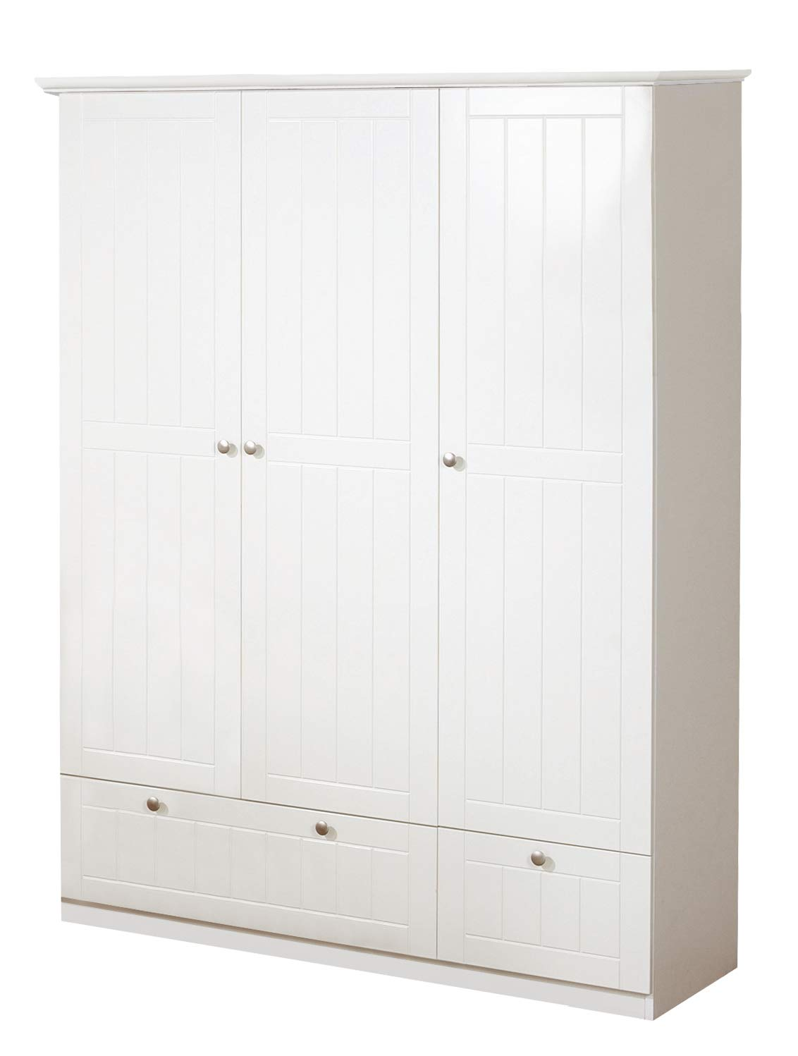 roba Dreamworld 3 1633587A Wardrobe 118.99 g White roba Dreamworld 3 Door Wardrobe with 2 Drawers Roba Wardrobe Metal handles and ABS protective edges complete the modern room component visually Above the hanging rail there is a base that provides additional storage space for clothes and laundry. 1