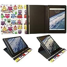 Miia Tab MT-113G 10.1 Pollici Tablet Colorato Gufo Universale 360 Gradi di Rotazione PU Pelle Custodia Case Cover di Sweet Tech