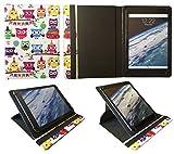 Polaroid Platinum 10.1 Pouces Tablette Plusieurs Hibou Universel 360° Rotation Étui Coque Housse de Sweet Tech