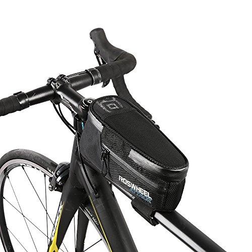 TOFERN Rahmentasche Regenschutz Klettverschluss Zur Befestigung Fahrradtasche Mit Reflektorstreifen Lenkertasche