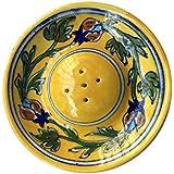 Blue Pottery Incense Sticks Holder (Yellow)