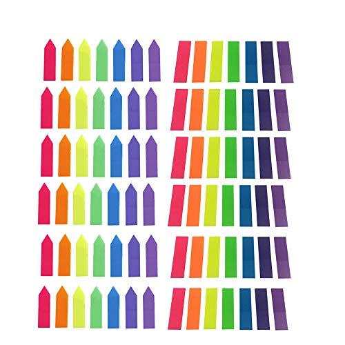 Lesezeichen, Haftnotizen, farbige Notizen, kleine Dokument-Flaggen, Beschriftung, Textmarker, Neonfarben, 12 Sets