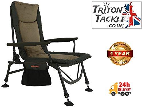 * * * TRITON Tackle–Super luz Scorpius de espuma viscoelástica con de pesca de carpa brazo silla * * *
