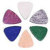 Médiators pour guitare ukulélé bestsounds Texture Fonctionne en feutre doux 6 Pack Colorful