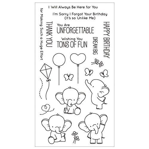 Blue Vesse Klarer Silikon Stempel DIY Scrapbooking Album Papierkarten Machen Dekoration Handstempel (Cartoon Elephant) -