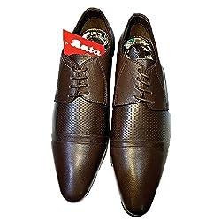 Bata Mens Jack Laether Black Formal Shoes - 8 UK/India (42 EU) (8726015)