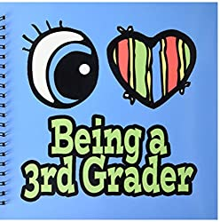 3dRose db_105744_2 Bright Eye Heart I Love Being a 3Rd Grader-Memory Book, 12 by 12-Inch