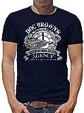 Doc Browns Time Travel T-Shirt Herren XXL Dunkelblau