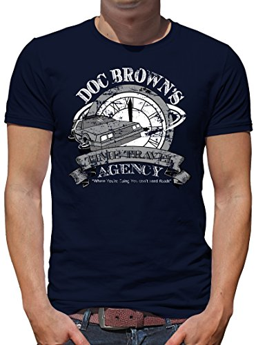 Mcfly Doc Marty Und Kostüm Brown (TLM Doc Browns Time Travel T-Shirt Herren XXL)
