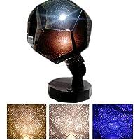 ZREAL 3 colores estrella romántica lámpara del proyector Starry Sky proyección Cosmos luz nocturna para el dormitorio niños niños regalo del bebé